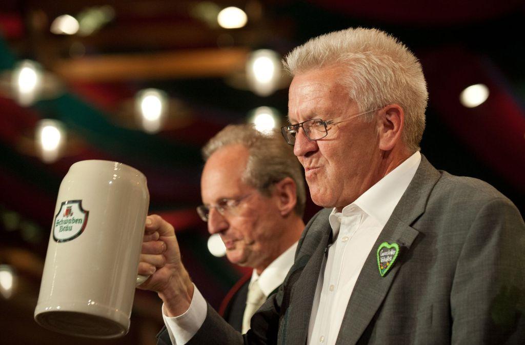 Winfried Kretschmann ist Botschafter des Bieres. Foto: dpa