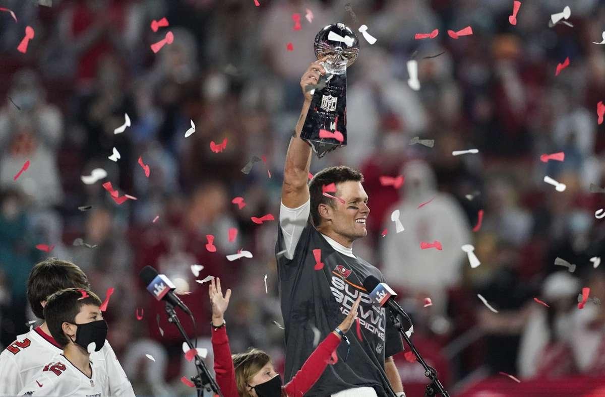 Brady fügte seinem Heldenepos mit diesem Super-Bowl-Sieg ein weiteres Kapitel hinzu. Foto: dpa