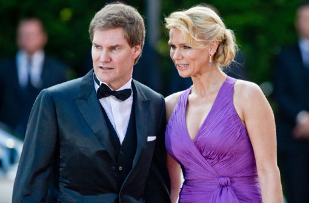 Treue Bayreuth-Geher sind Schauspielerin Veronica Ferres und ihr Lebensgefährte Carsten Maschmeyer. Wer sich sonst auf dem grünen Hügel tummelt... Foto: dpa