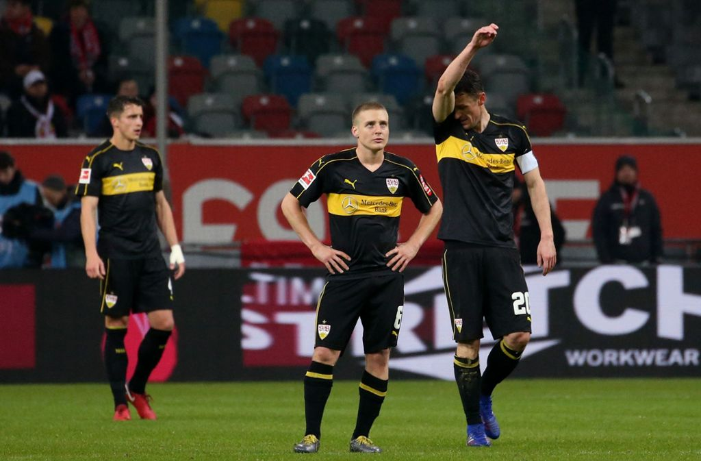 Der VfB zeigte sich in Düsseldorf in erschreckender Verfassung. Foto: Pressefoto Baumann
