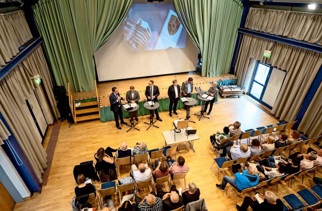 Pro und contra Gewerbeschwerpunkt:  Talk-Abend im  Schwieberdinger Bürgerhaus. Foto: