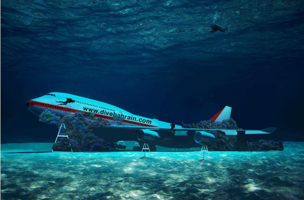 Sauber sieht die Boeing 747 nicht mehr aus – sie ist bereits mit Algen bewachsen. Foto: Dive Bahrain