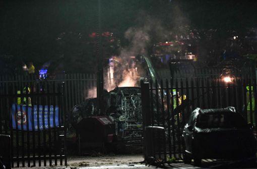 Hubschrauber verunglückt am Stadion von englischem Fußballclub