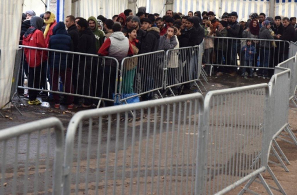 Flüchtlinge in der Landeserstaufnahmestelle Ellwangen. Foto: dpa