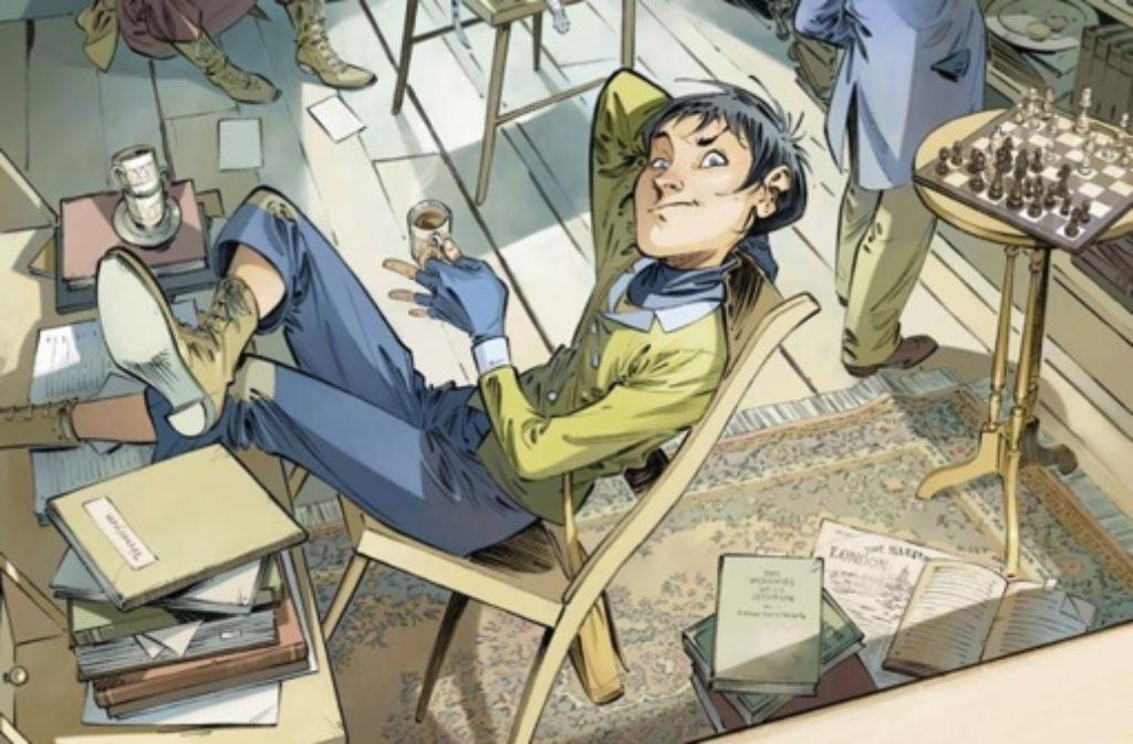 Der Dieb Tom ist ein kecker Kerl, kann sich aber im Schatten eines Meisterdetektivs kaum entfalten. Foto: Splitter Verlag