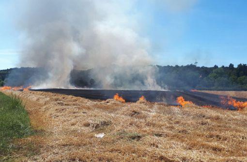 Flächenbrände auf Äckern