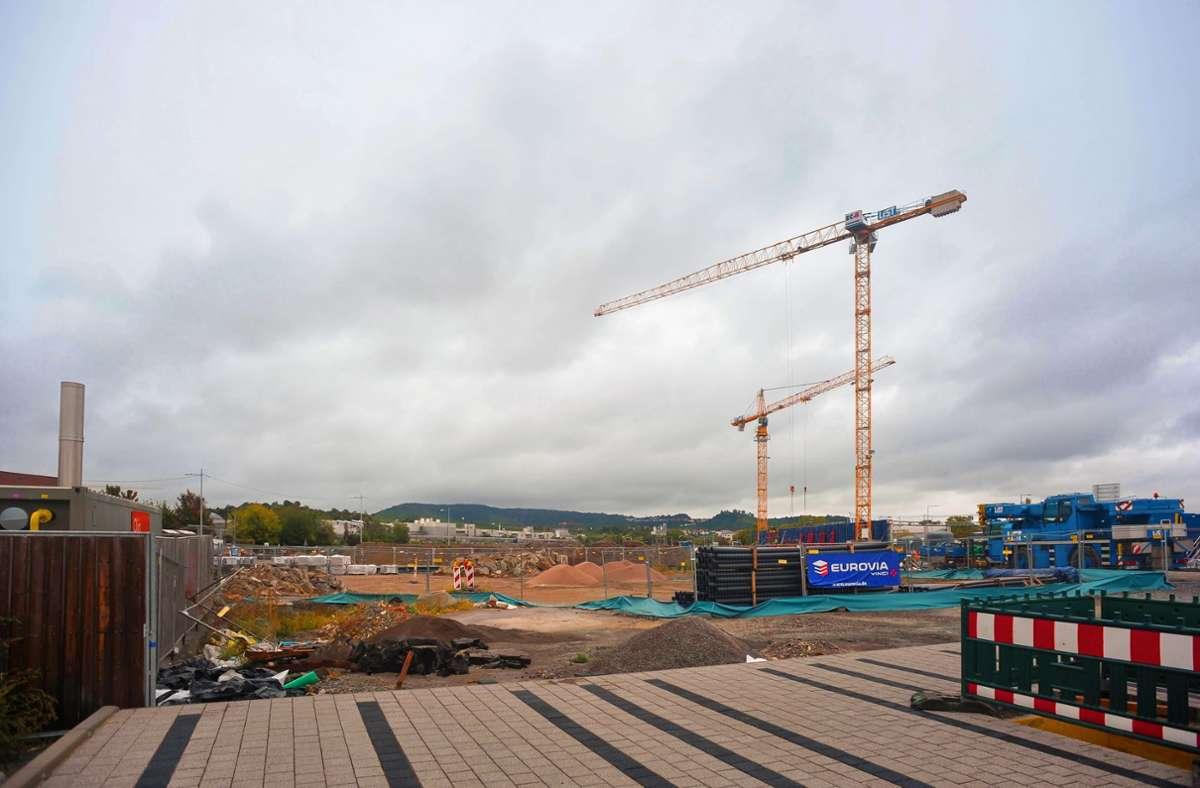 Im Neckarpark beim Cannstatter Wasen wird gebaut – auch Wohnungen. Foto: Lichtgut/Max Kovalenko