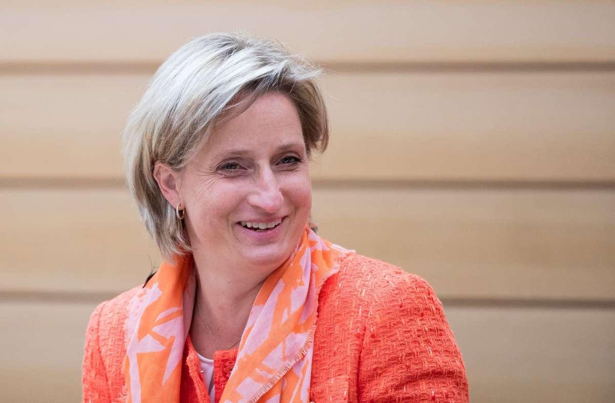Wirtschaftsministerin Nicole Hoffmeister-Kraut. Foto: dpa/Tom Weller