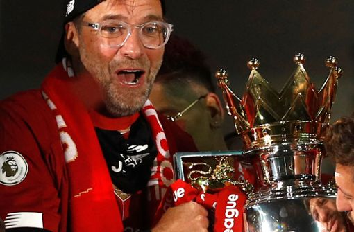 So ausgelassen feiern Jürgen Klopp und Co. die Meisterschaft