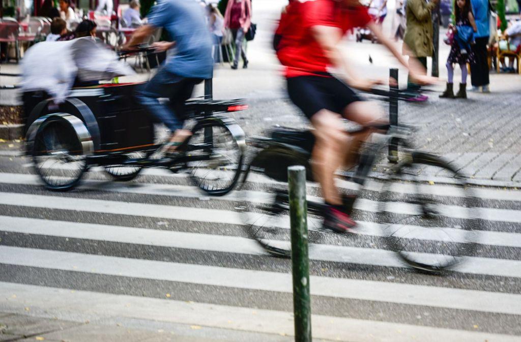 Bekommen Radfahrer in Zukunft einen Foto: Lichtgut