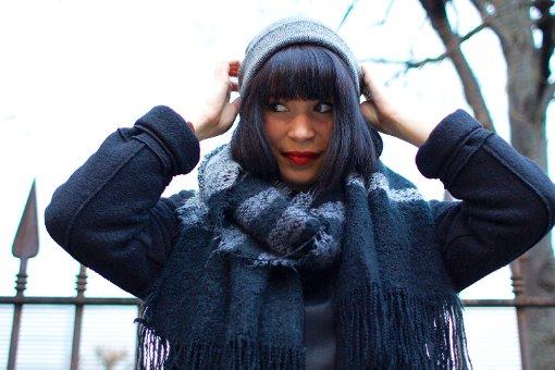 Laura Müller-Sixer kommt aus Thüringen und trägt gern dunkle Kleidung. Wenn ich schwarze, cleane Sachen trage, dann ist das mein Ruhepol.  Foto: Tanja Simoncev