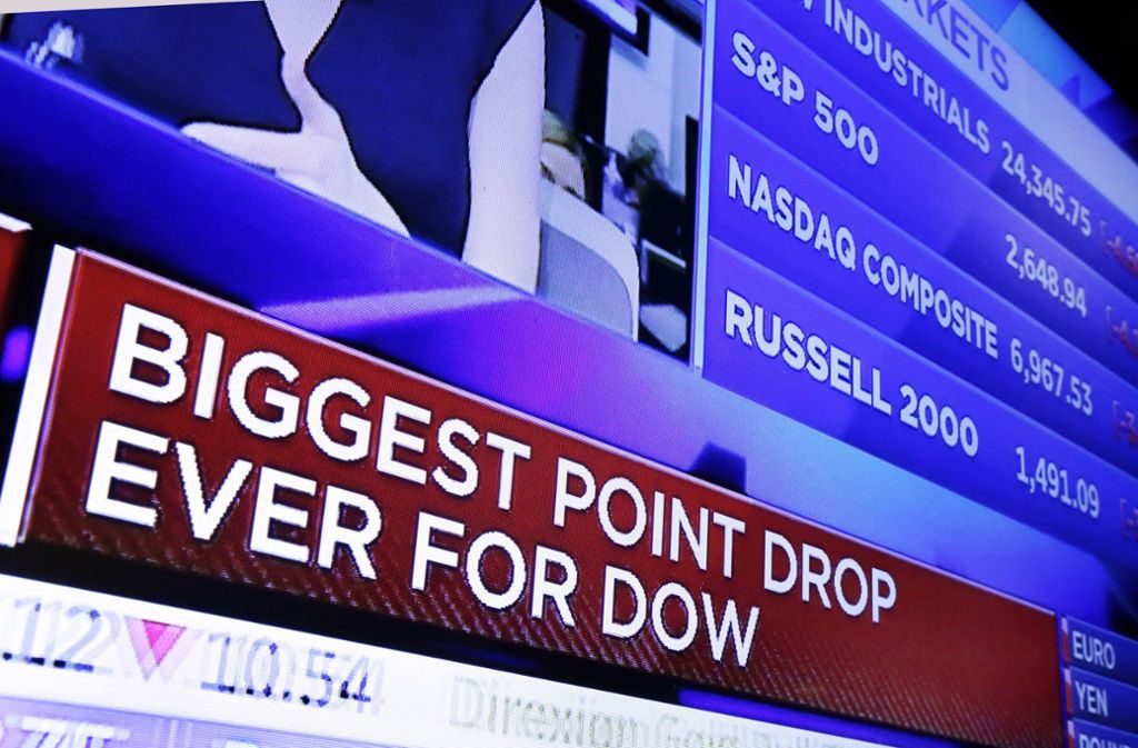 An der Wall Street ist zum Wochenstart Panik ausgebrochen. Foto: AP