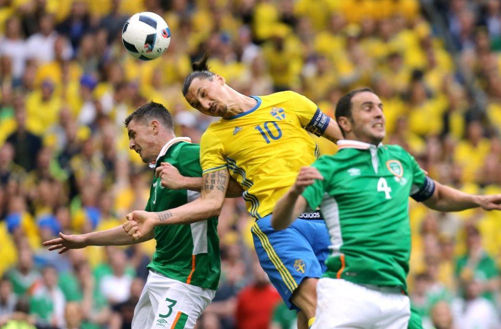 Der schwedische Superstar: Zlatan Ibrahimovic bewahrt seine Mannschaft vor der Niederlage. Foto: AFP