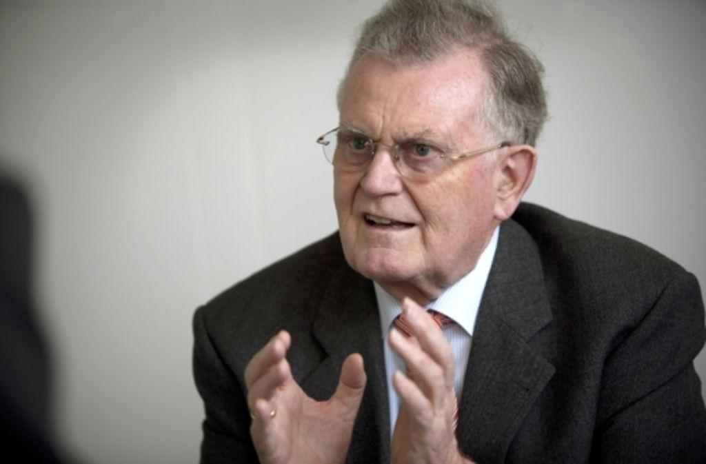 Der frühere  Ministerpräsident Erwin Teufel ist wegen seiner Verdienste um die deutsch-französische Freundschaft Mitglied der französischen Ehrenlegion. Foto: Steinert