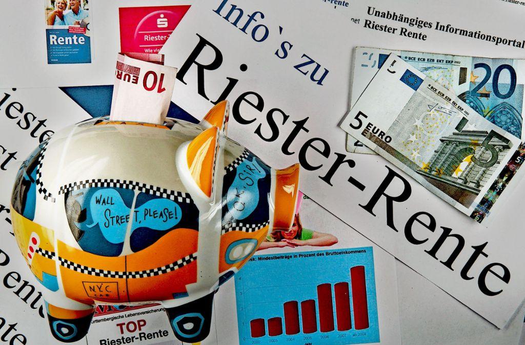 Die Riester-Rente könnte bald Aufwind erfahren. Foto: dpa-Zentralbild