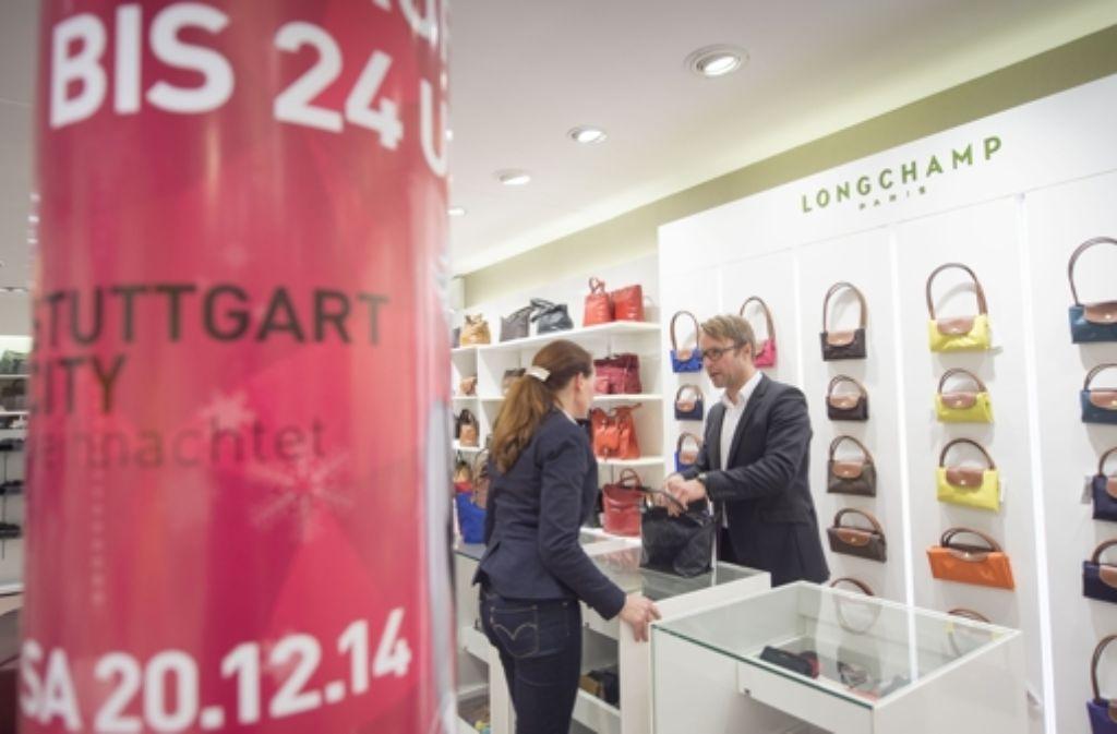 Zuletzt hatten die Geschäfte in Stuttgart kurz vor Weihnachten lange geöffnet. Foto: Lichtgut