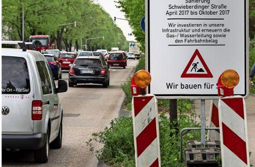Schwieberdinger Straße wird zur  Staustrecke
