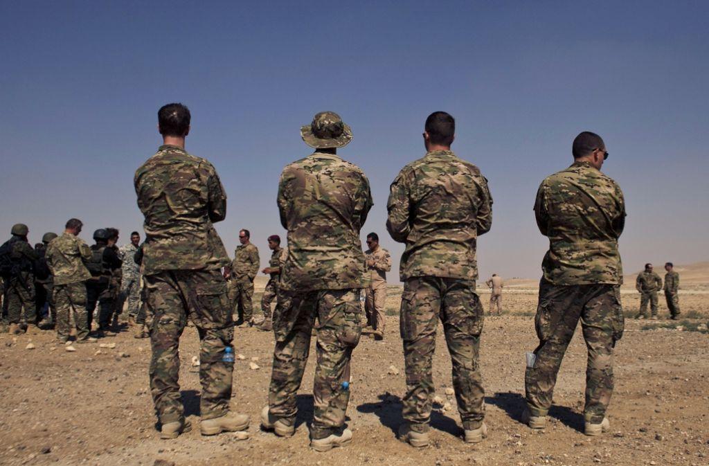 US-Spezialkräfte wie diese im Einsatz in Jordanien üben auf den Schießständen  der Böblinger Panzerkaserne für Einsätze in aller Welt. Foto: AP