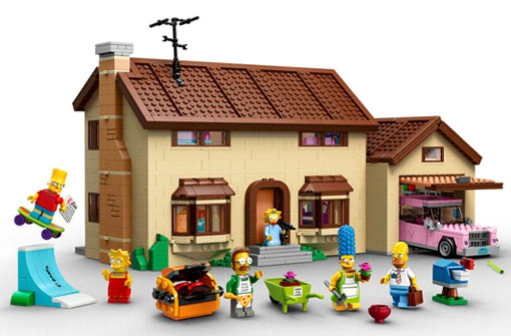 Die Simpsons zum Zusammenbauen: Zum 25. Jubiläum der Kultserie gibt Lego eine eigene Simpsons-Reihe heraus. Foto: LEGO Systems