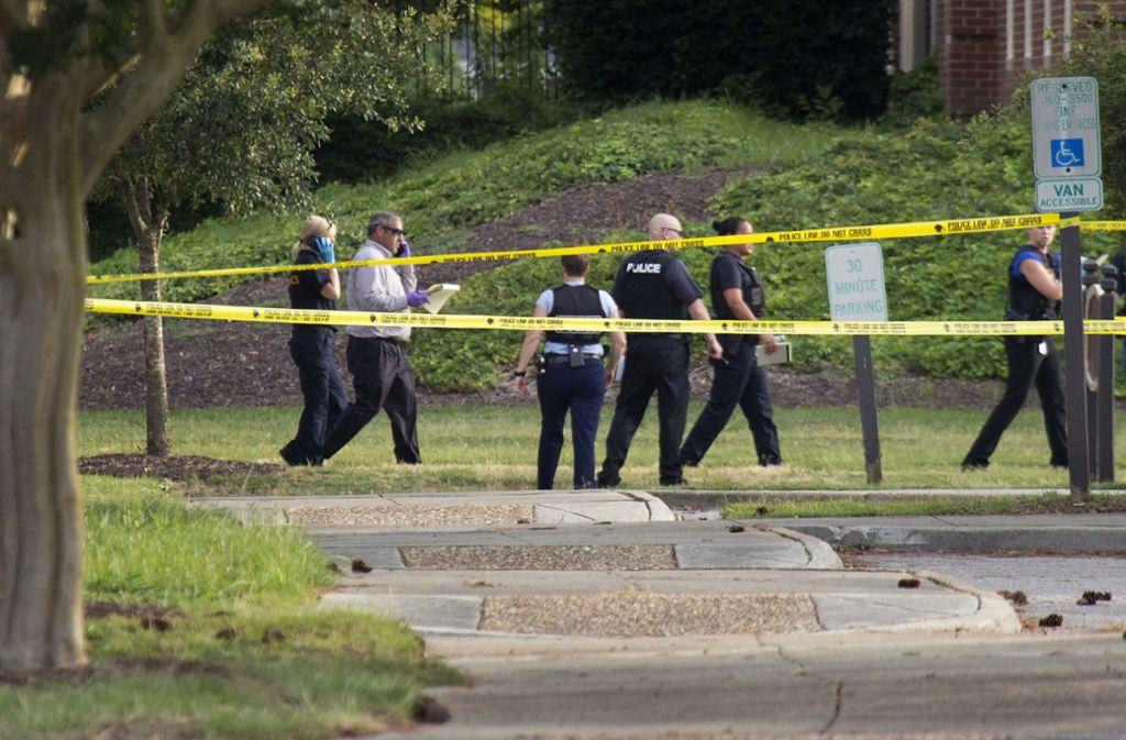Bei einem Massaker in Virginia Beach sind 13 Menschen ums Leben gekommen. Foto: AP