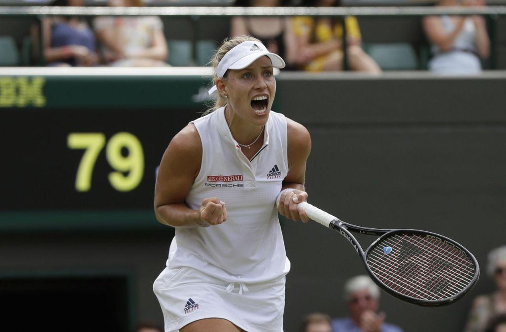 Angelique Kerber setzte sich gegen Belinda Bencic in zwei Sätzen durch. Foto: AP