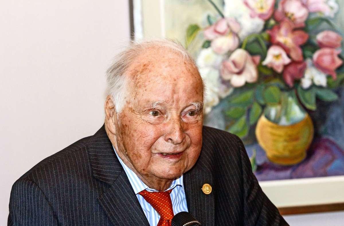 Ulrich Freiherr Varnbüler von und zu Hemmingen wurde 93 Jahre alt. Foto: factum/Archiv