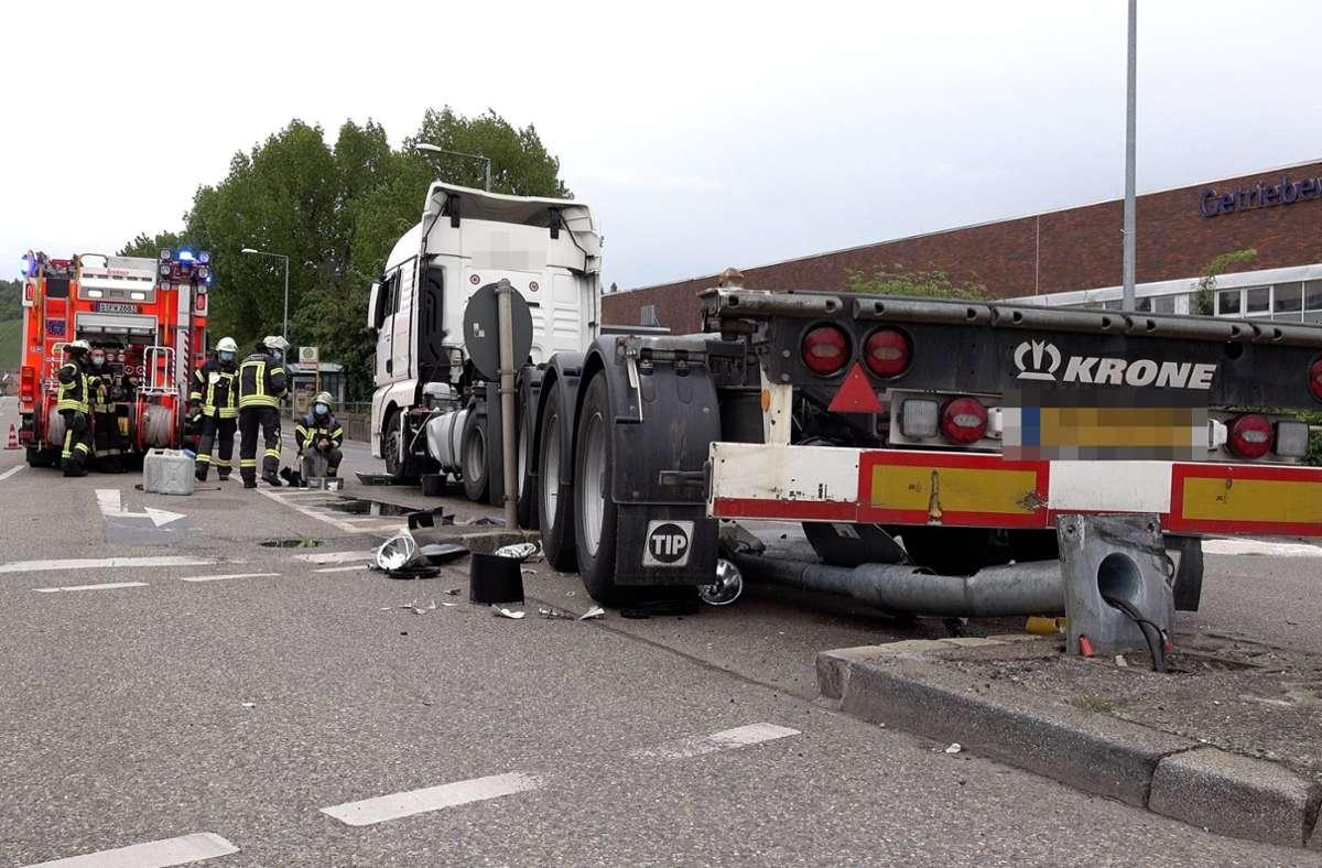 Der Unfall ereignete sich in Hedelfingen. Foto: 7aktuell.de/A. Hald/7aktuell.de | A. Hald