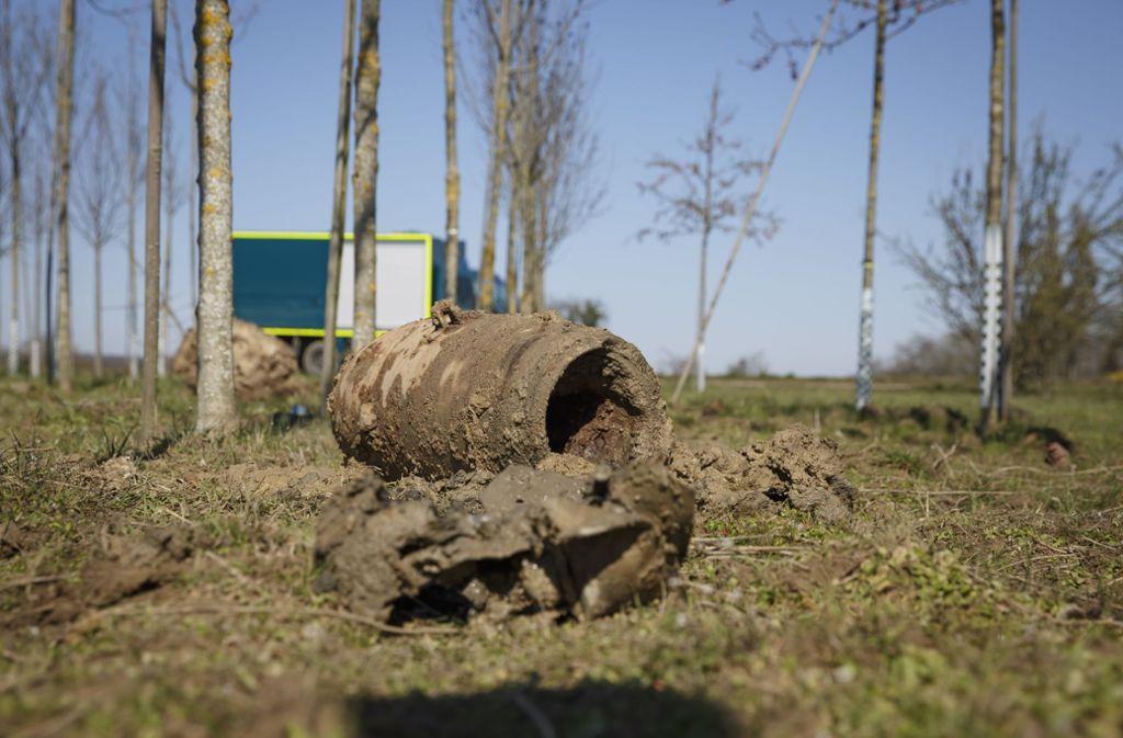 Die Bombe wiegt 250 Kilogramm und ist nicht ungefährlich – dennoch sehen einige Anwohner den Zeitpunkt der Entschärfung kritisch. Foto: Lichtgut/Julian Rettig