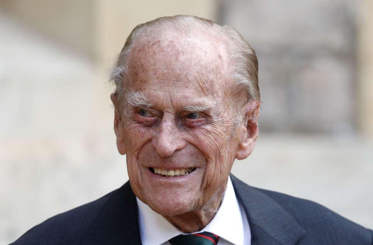 Der 99 Jahre alte Prinz Philip liegt derzeit im Krankenhaus. Foto: dpa/Adrian Dennis