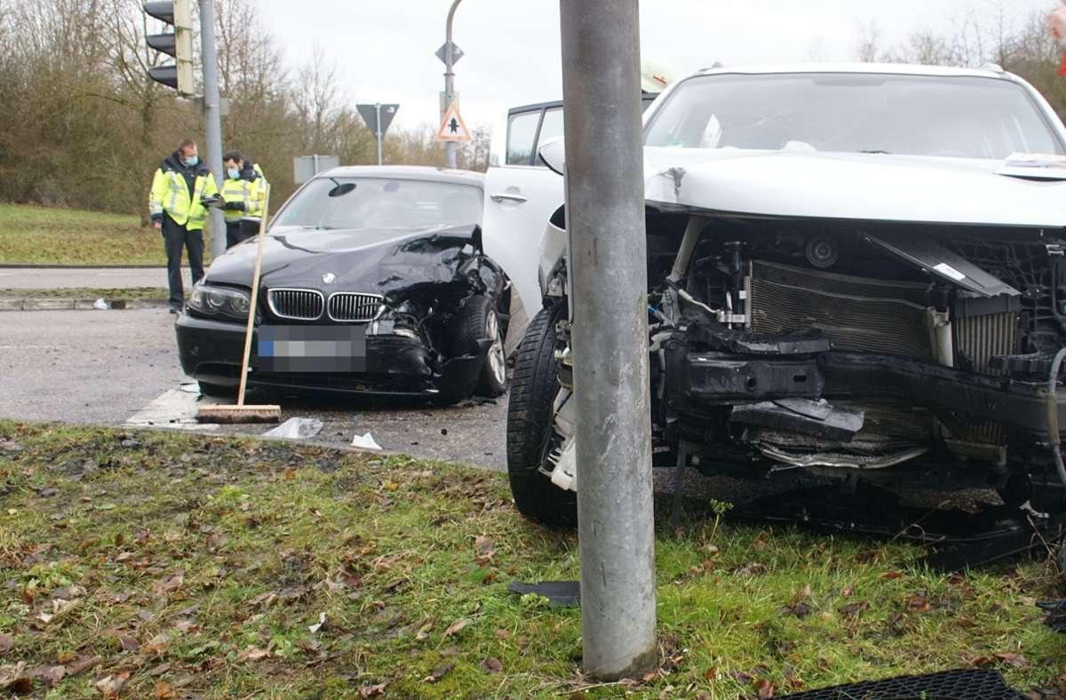 Der Unfall ereignete sich auf der B10 bei Pforzheim. Foto: SDMG/SDMG / Gress