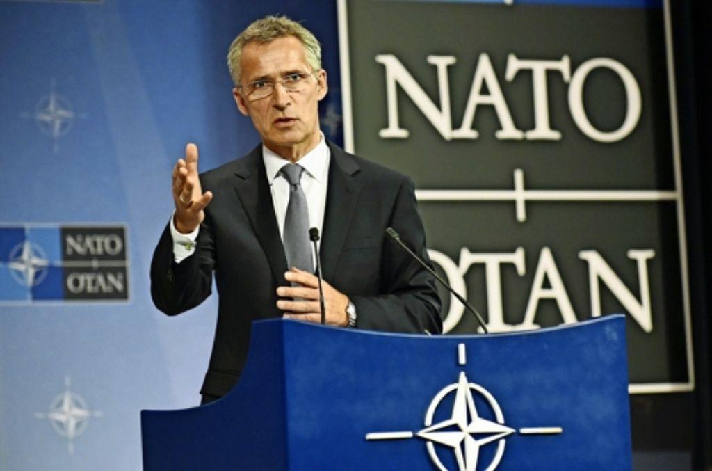 Nato-Generalsekretär Jens Stoltenberg sagt, die Nato stehe bereit, alle Verbündeten zu beschützen – auch die Türkei. Foto: AFP