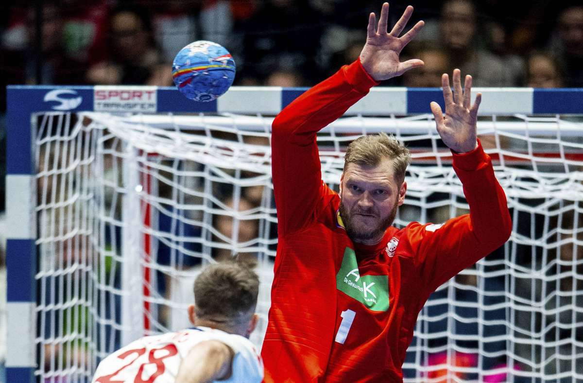 Spielte in Estland für die deutsche Handball-Nationalmannschaft: Johannes Bitter vom TVB Stuttgart. Foto: imago/Vegard Wivestad