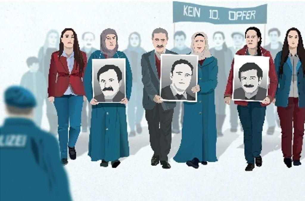 Ein Theaterstück bringt die Stimmen der Opfer des NSU auf die Bühne Foto: Pressematerial