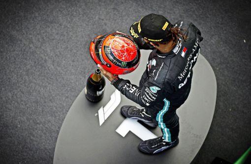 Lewis Hamilton macht die 91 Siege voll