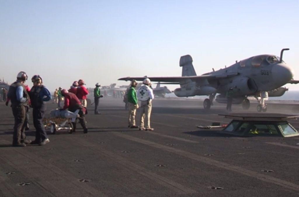 US-Kampfflugzeuge fliegen Angriffe auf IS-Stellungen in Syrien. Foto: P
