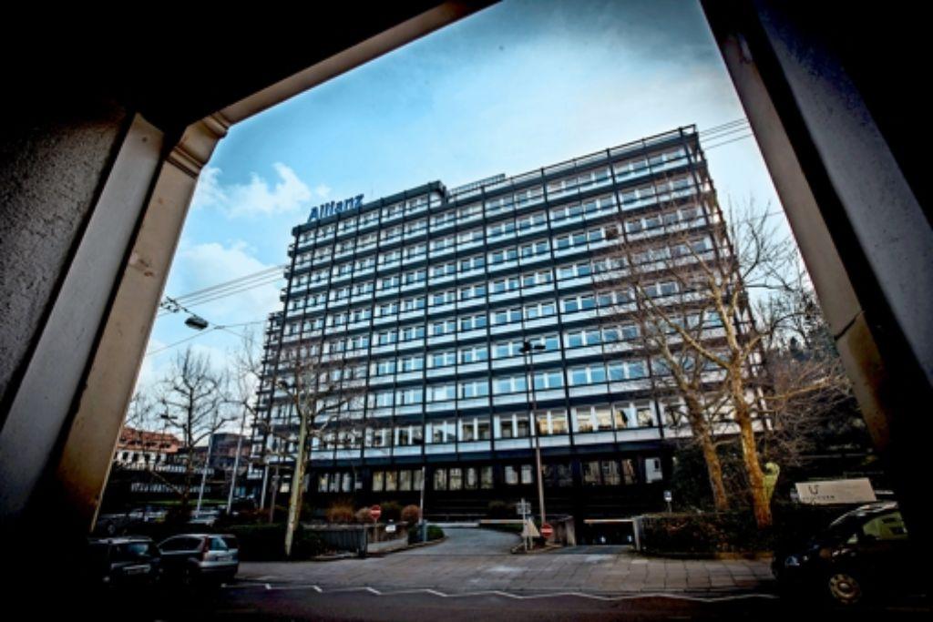 Die Hauptverwaltung in der Reinsburgstraße entspricht längst nicht mehr den Vorstellungen der Allianzführung. Eine Sanierung wurde verworfen. Foto: Lichtgut/Achim Zweygarth