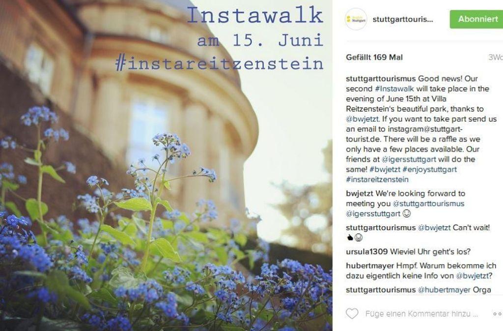 Der Einladung zum zweiten Instawalk folgten zahlreiche Besucher. Foto: Instagram