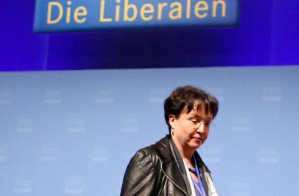 Schon lange gab es parteiinterne Kritik an Birgit Homburger. Nun tritt die Chefin der Südwest-FDP ab. Foto: dpa