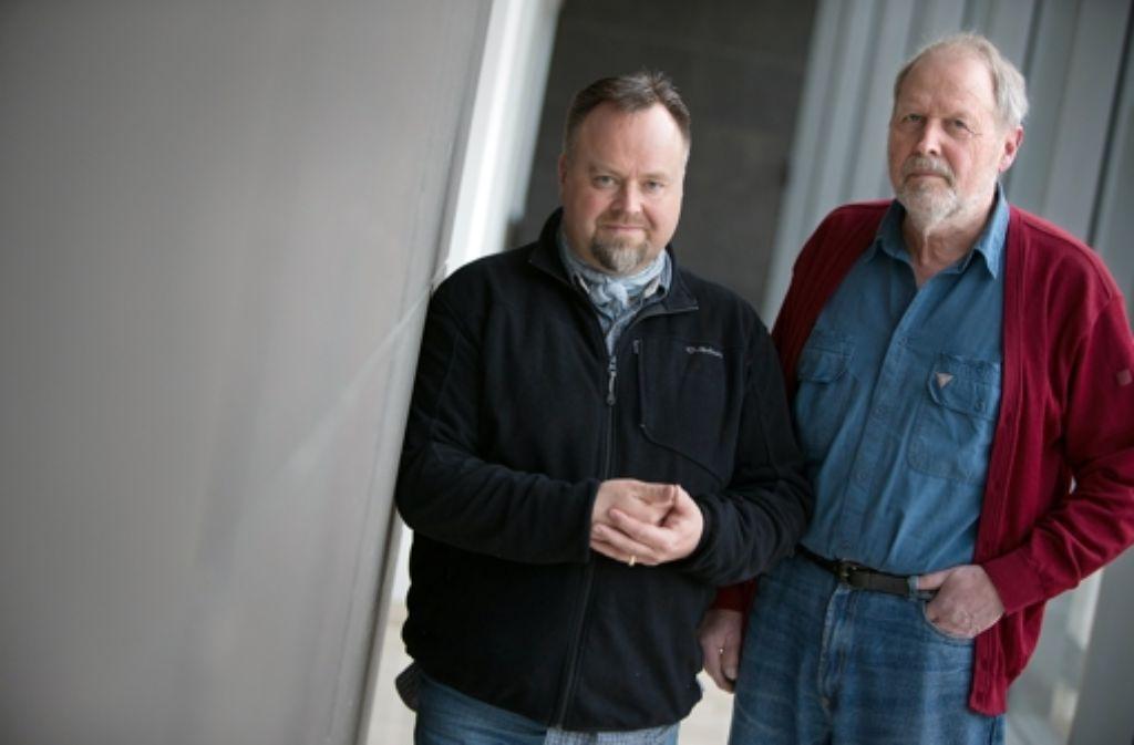 Matthias Herbert Enneper (links) und Karl-Horst Marquart haben die Geschichte der kleinen Gerda Metzger vor dem Vergessen gerettet. Foto: Michael Steinert