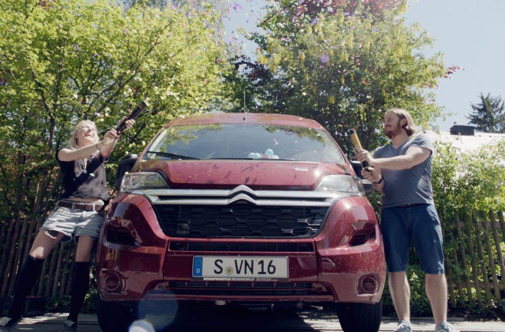 Kathi, Paul und Van Bjørn – drei, die das Abenteuer Europa zusammen wagen. Foto: Vannomaden