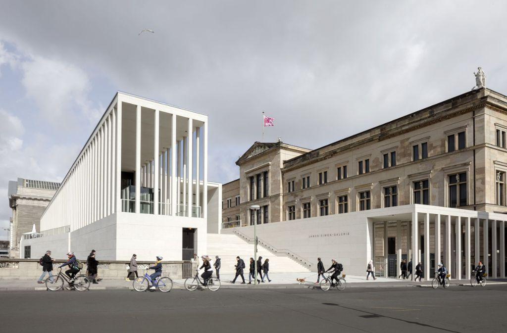 Das Preisträger-Projekt: die James-Simon-Galerie von David Chipperfield Architects Foto: Simon Menges