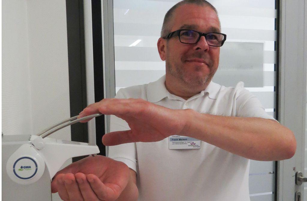 Frank Markert von der Abteilung Klinikhygiene des Marienhospitals Foto: Caroline Friedmann