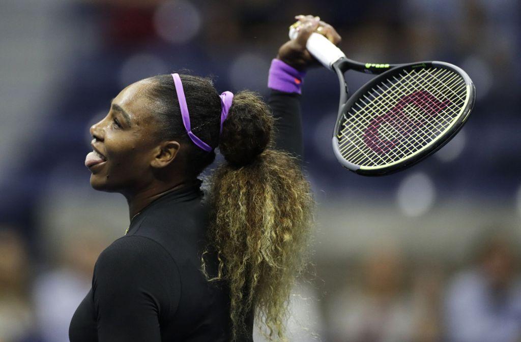 New York-Serena Williams setzte sich am Donnerstagabend gegen Jelina Switolina aus der Ukraine durch. Foto: AP