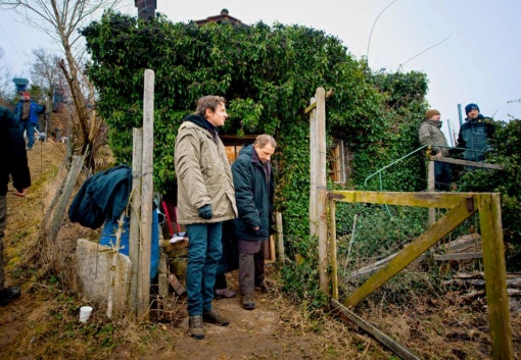 Die Tatortkommissare Lannert und Bootz ermitteln auf dem Kappelberg. Foto: Martin Stollberg
