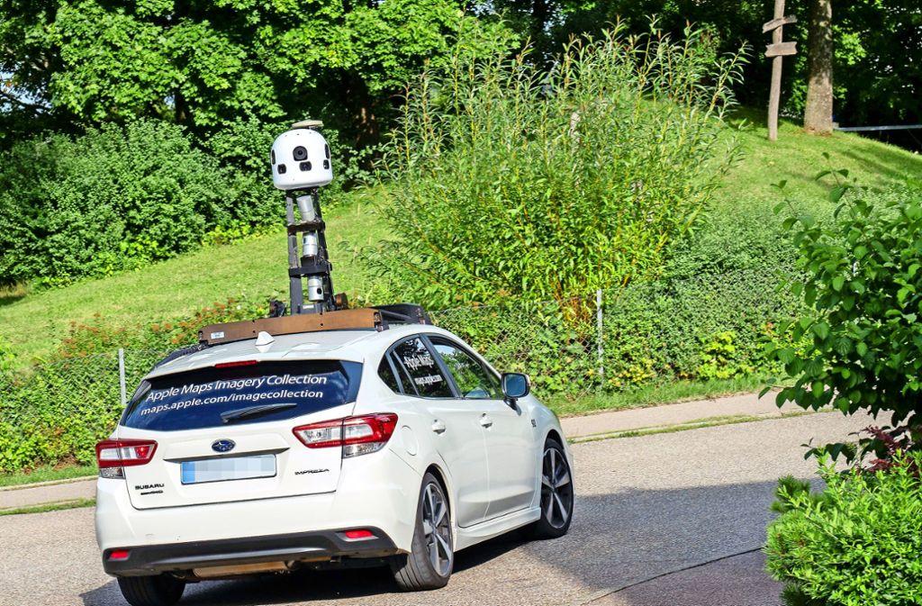 Unser Fotograf hat das Apple-Auto in Weil der Stadt erwischt. Foto: factum/