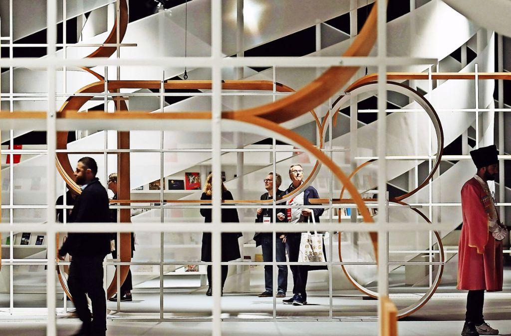 Eintauchen in die Welt der Zeichen und Bedeutungen: der Pavillon des Gastlandes Georgien Foto: Getty