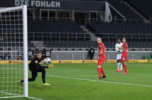 500 einsame Fans feiern Gladbach-Sieg