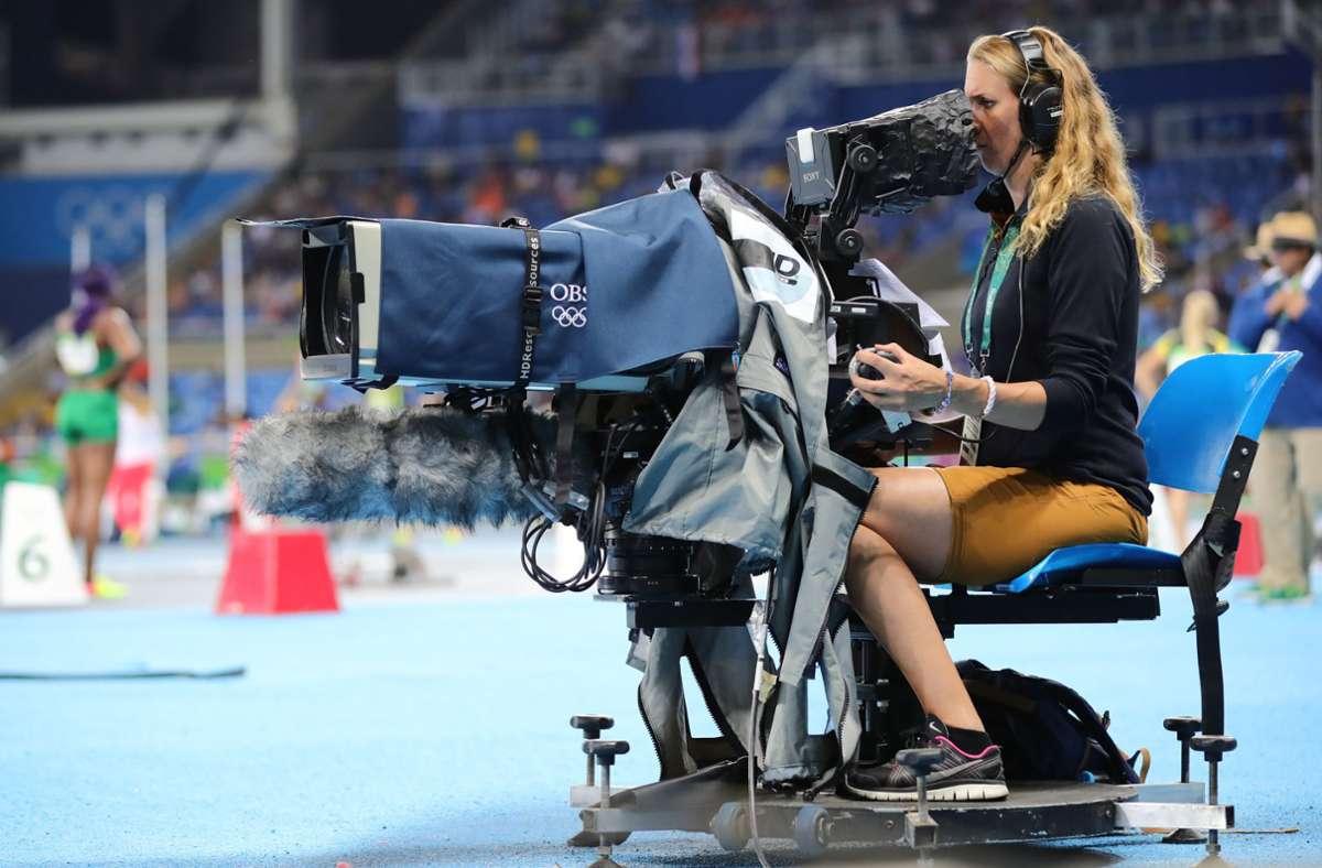 Wie werden die TV-Übertragungen der Sportereignisse konzipiert? Foto: dpa/Michael Kappeler