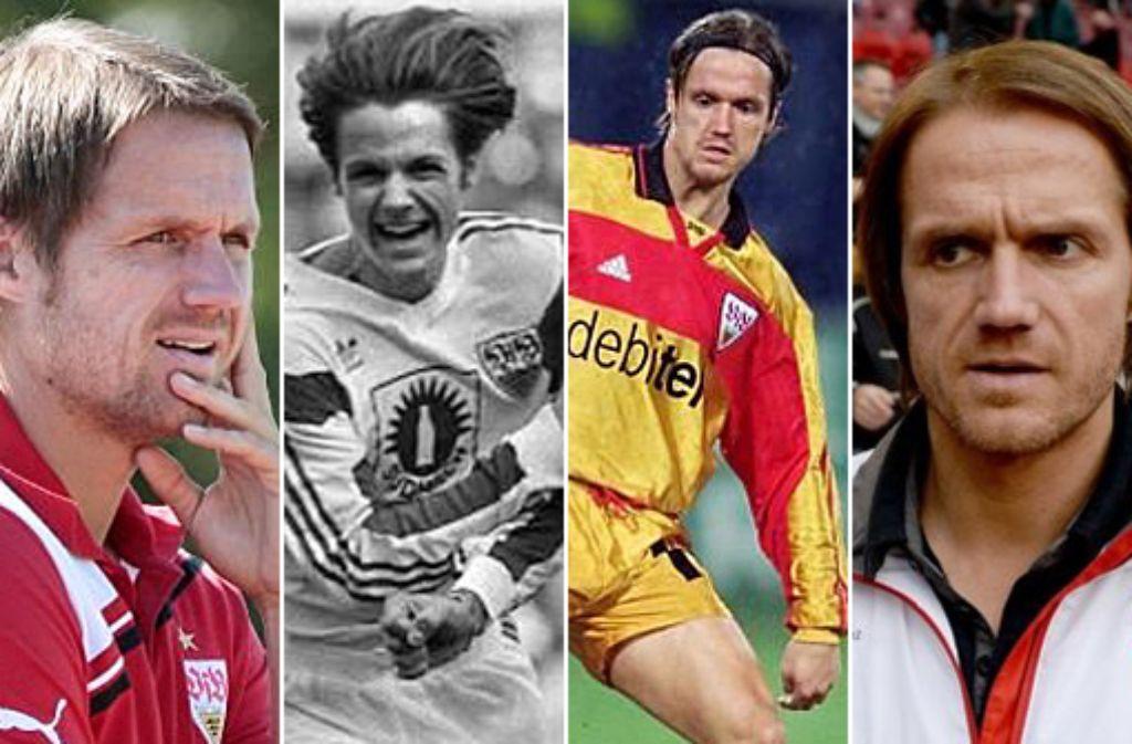 Das wars: Thomas Schneider ist nicht mehr Cheftrainer des VfB Stuttgart. Hier blicken ... Foto: Pressefoto Baumann, dpa | Montage: SIR