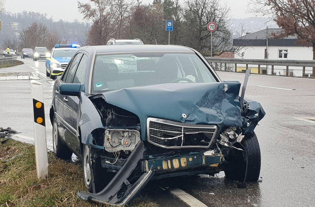 Beide Autos prallten nahezu ungebremst zusammen. Foto: 7aktuell.de/Franziska Hessenauer